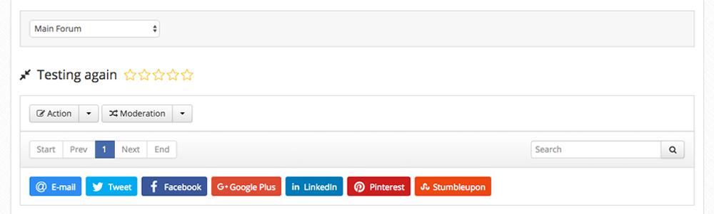 Default Social Share buttons in Kunena
