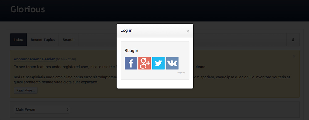 Custom login module without core Kunena login feature