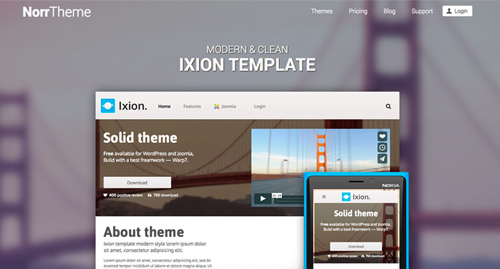 Templates for Joomla and Wordpress themes