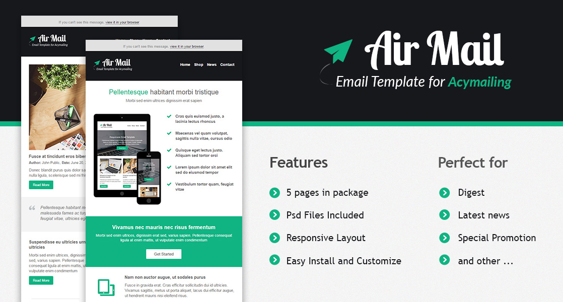 RND Air Mail - AcyMailing template