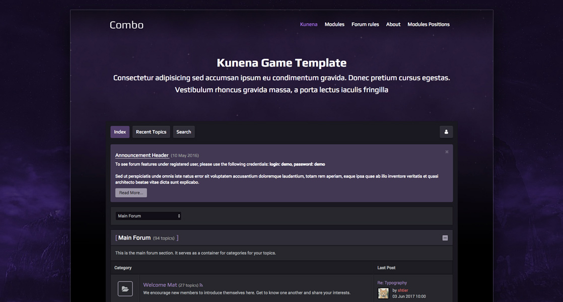 RND Kcombo - dark Kunena game template
