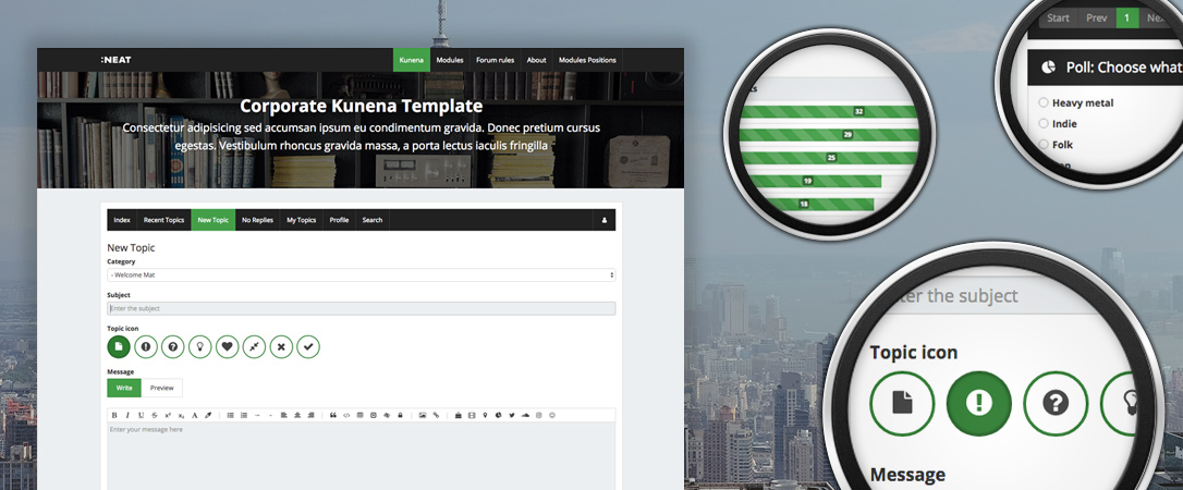 Kneat - Corporate Kunena template
