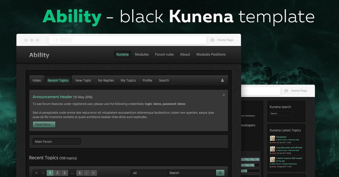 Kability - Black Kunena Template released
