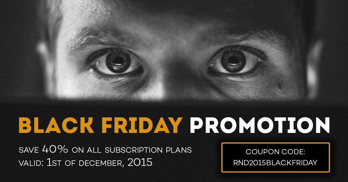 Black Friday super sale: save 40% on all subscription plans