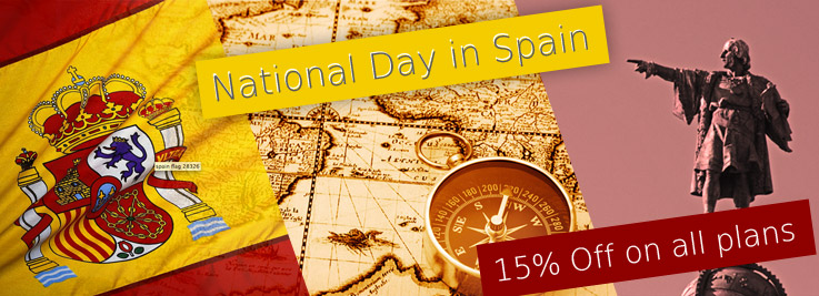 Columbus Day in Spain: 15% Off on all plans
