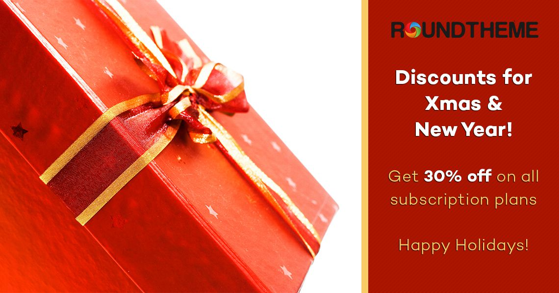 Discounts for Xmas & New Year: get 30% off on all subscription plans