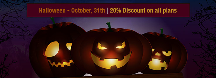 Halloween Discount: 20% Off on all plans