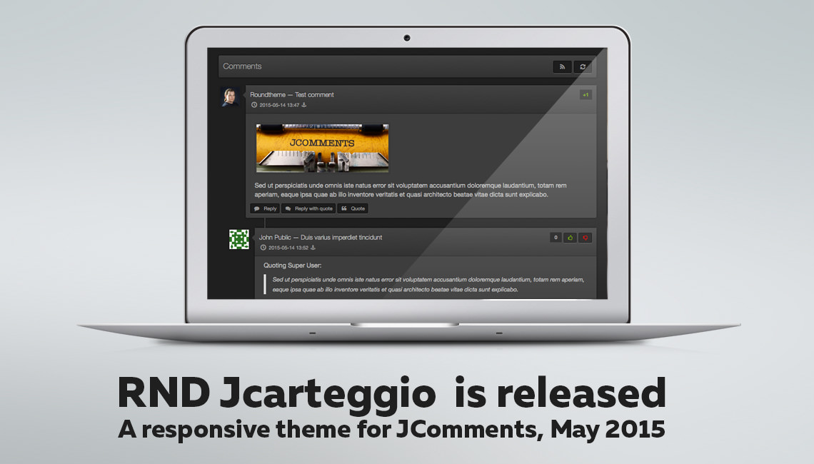 JCarteggio theme for JComments. May 2015 release