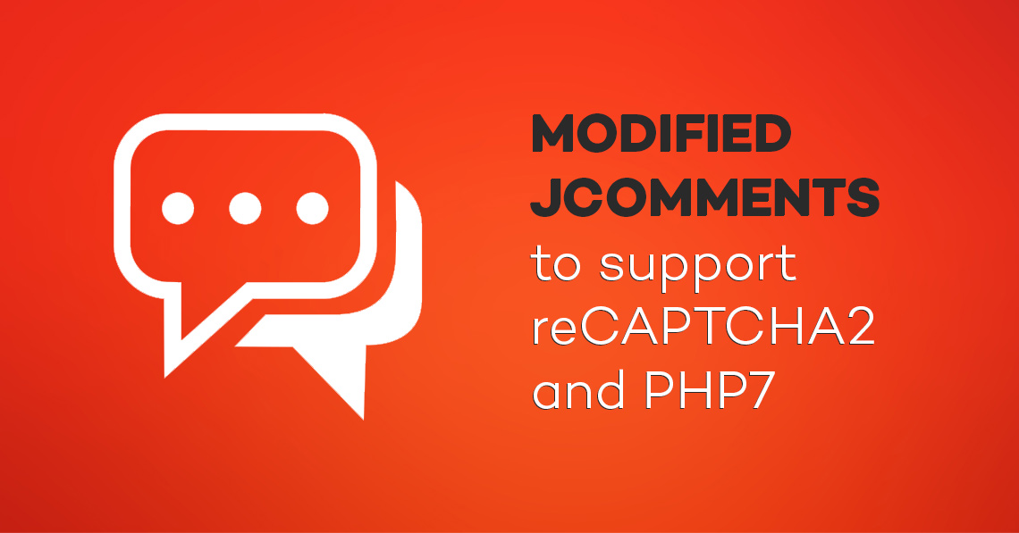 Modified JComments to support reCAPTCHA2 and PHP7