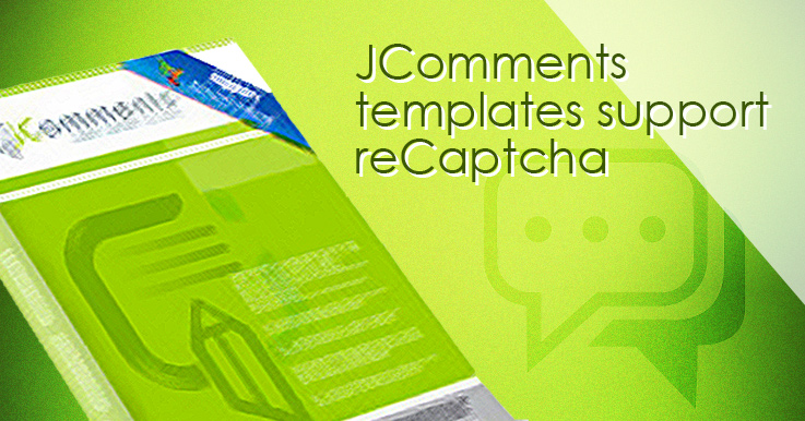 JComments templates to support reCaptcha now