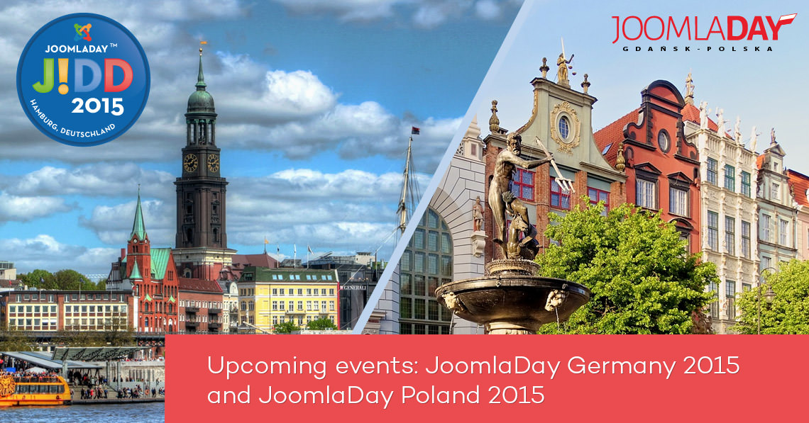 Upcoming events: JoomlaDay Germany 2015 and JoomlaDay Poland 2015