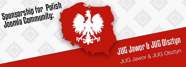 Sponsorship for Polish Joomla User Groups: JUG Jawor & JUG Olsztyn