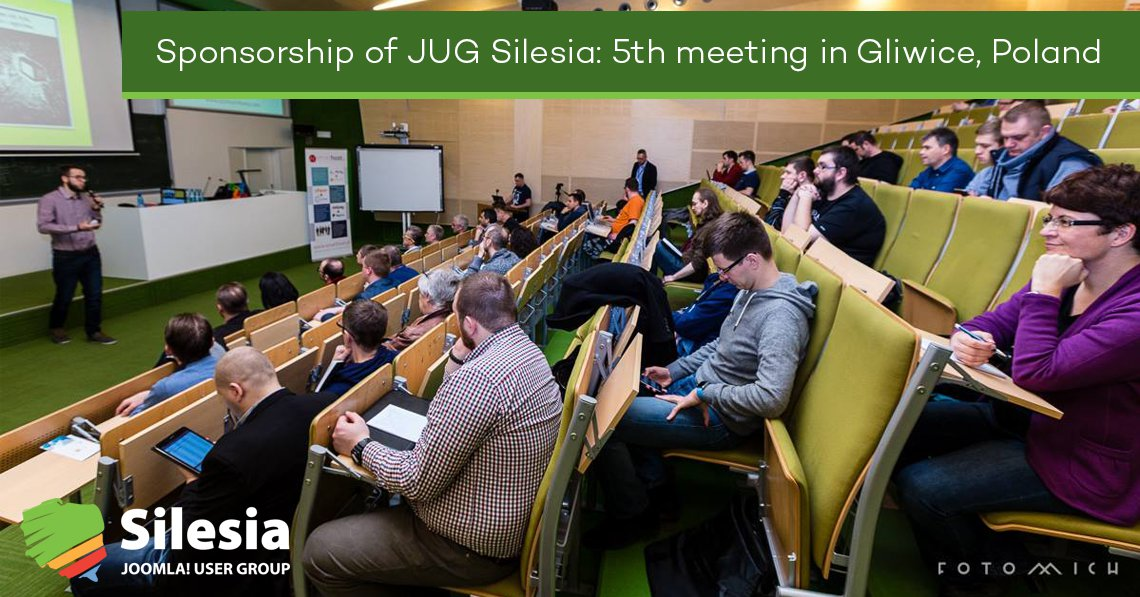Sponsorship of JUG Silesia: 5th meeting in Gliwice, Poland