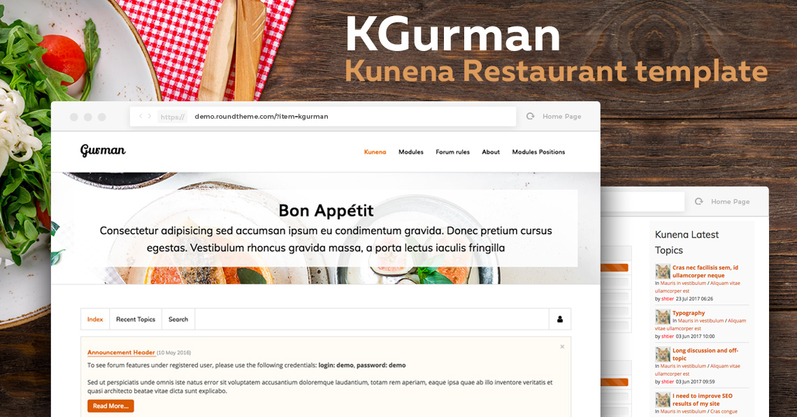 RND Kgurman 2.0 - Restaurant Template for Kunena 5.1