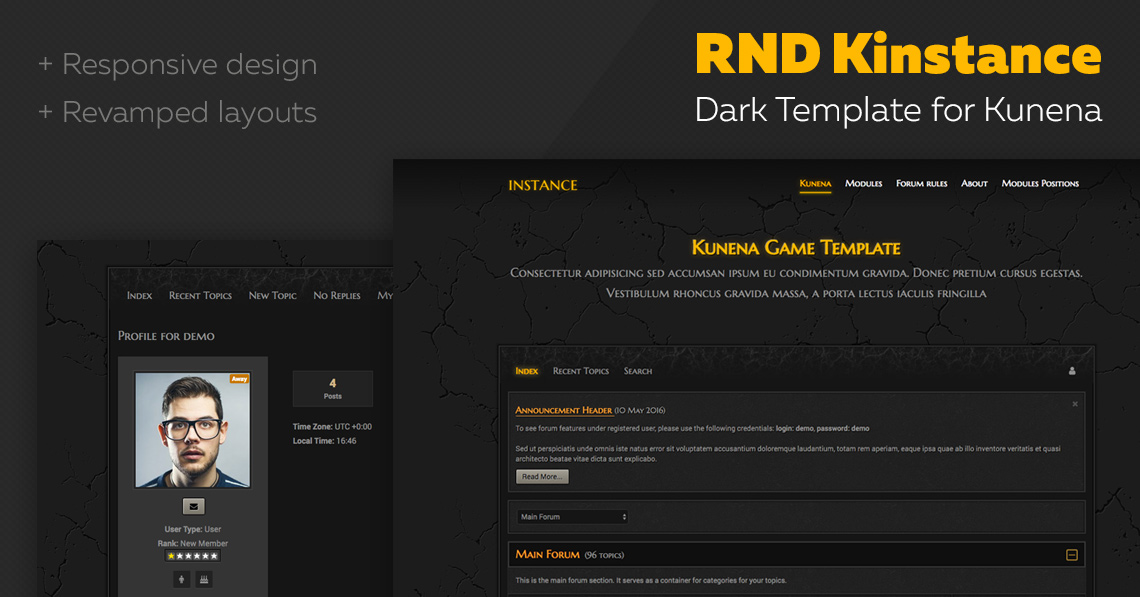 RND Kinstance 2.0: now is Kunena 5.1 compatible