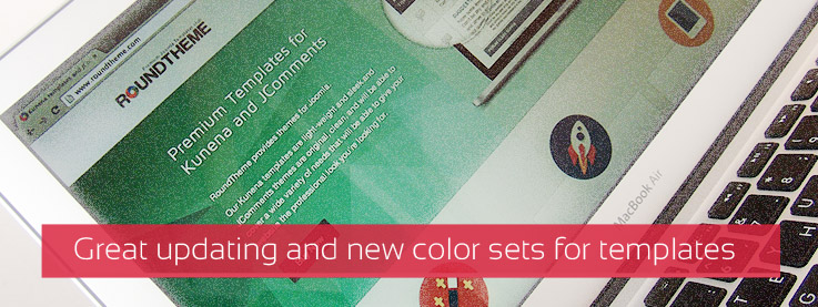 Big update and new color sets for templates