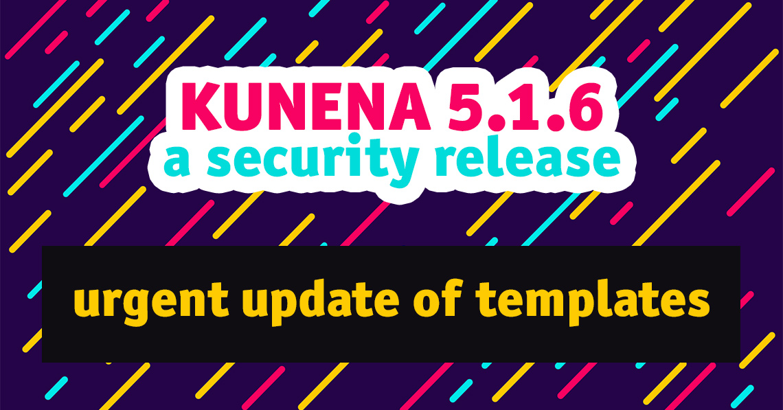 Kunena 5.1.6: security release and update of templates