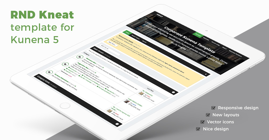 RND Kneat - Corporate Kunena Template Released