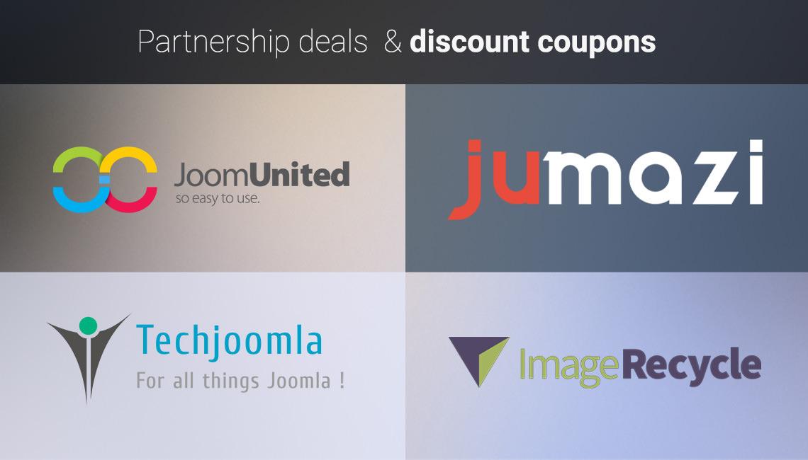 Partnership deals & new coupons