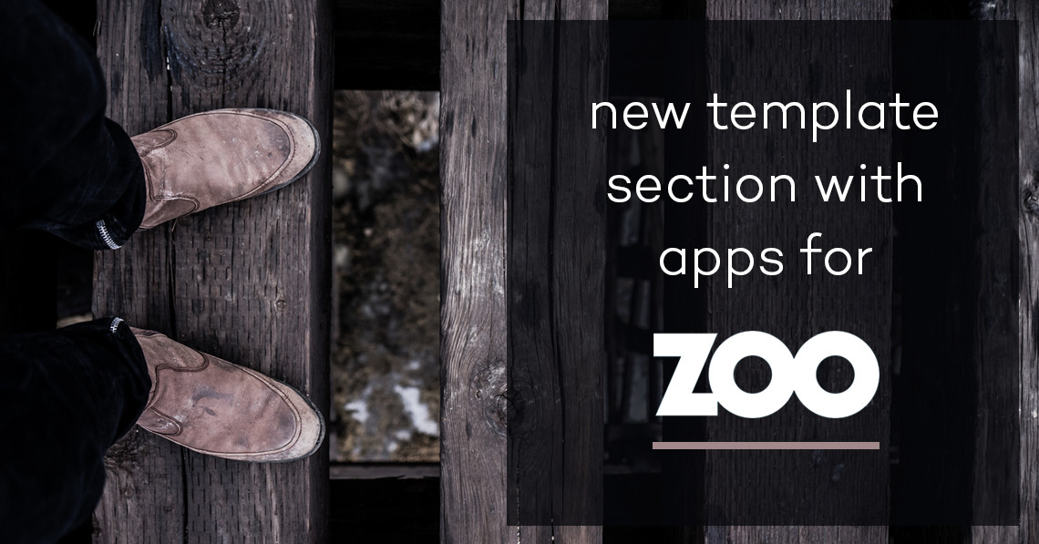 New template section with Apps for ZOO CCK
