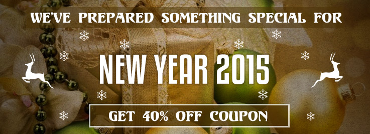 New Year Mega Discount: 40% Off Coupon