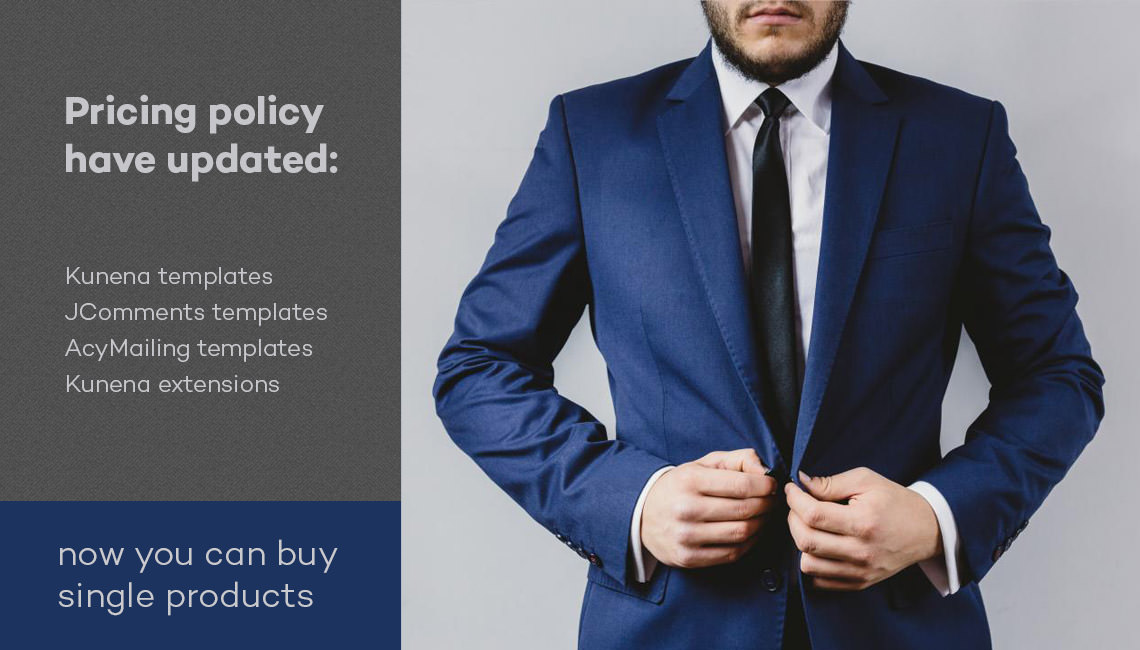 Pricing policy have updated: now you can buy single products