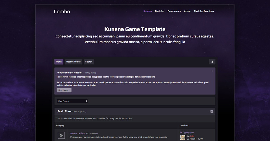 RND Kcombo - Kunena Game template released