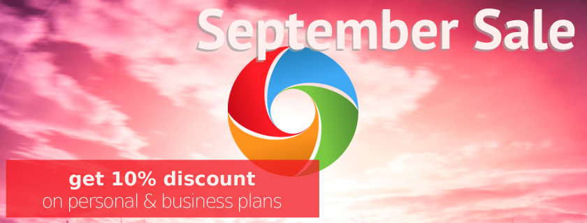 September discount on RoundTheme templates